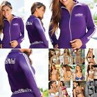 Chamela 14647 Women's Sexy Sporty Jacket Color Purple Talla L, reg.$76.85