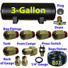 """xfitx 3 Gallon Air Tank with Fittings Kit Pressure Switch 1/4"""" / 3/8"""" airhose"""