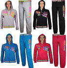 WOMENS LADIES NYC NEW YORK  FULL HOODED TRACKSUIT JOG TROUSER SIZE 10 12 14 16