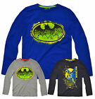 Boys Long Sleeved Official Batman T Shirt New Kids Superhero Top Ages 3-8 Years