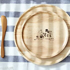 Moomin Wooden Plate Round Tray Food Tea Cookie Dish Cute Anime Serving Container