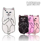 Cartoon Funny 3D Pocket Cat Kitty Mid Finger Soft Case For iPhone Samsung Galaxy
