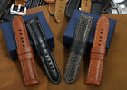 24mm Calf Leather Strap Padded Prev Tang Watch Band fit Panerai Luminor 44mm Men