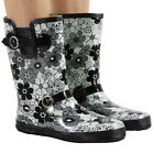 NEW LADIES FESTIVAL WELLYS WINTER SNOW WELLIES WOMENS RAIN WELLINGTON BOOTS SIZE