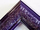 "1.8"" Wide Swirl Purple Solid Wood Picture Frame-Custom Made Standard Size"