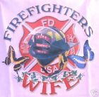 Pink T-Shirt with Firefighter Wife Design