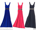Ladies Women's Plus Size Formal Occasion Wedding Bridesmaid Dress Gemstones