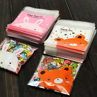 New 100 x Self Adhesive Cookie Candy Package Gift Bags Cellophane Party USWB