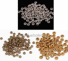 100pcs Tibetan Silver Spacer Jewellery Making Beads Wheel Gear 6mm