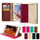 Slim Flip Stand Leather Wallet Case Cover Transparent Jelly For iPhone Galaxy LG
