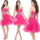 HOT Strapless Cocktail Formal Evening Gown Short Bridesmaid Wedding Mini Dresses