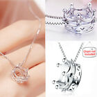CH UK Womens Silver Fashion Pendants Fox Imperial Crown Style Dress Necklaces