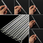 Clear 10mm Reusable Wedding Birthday Party Drinking Straws Glass Thick Straws