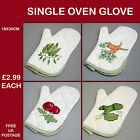 New Kitchen Dining Cook Carrot Bean Courgette Tomato Oven Glove Vegetable  KG30