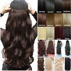 1pc half full head 18 24 28 inch clip in hair extensions Long Straight Curly