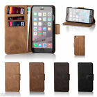 32nd Premium Genuine Leather Wallet Book Case Cover for Apple iPhone Models