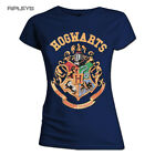 Official Skinny T Shirt Harry Potter Hogwarts ~ CREST Houses All Sizes