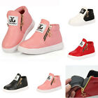Girls Boys Toddler Kid Ankle Boots Trainers Cute PU Leather Zipper Shoes Shoes
