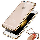 New Ultra Thin Plating Soft Silicone TPU Case Cover Transparent Clear For iPhone