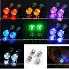 2x Led Earring Light Up Glowing Studs Ear Stud Ring Zirconia Crystal Dance Party