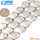 Colorful Freshwater Pearl Gemstone Coin Beads For Jewelry Making Free Shipping
