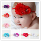 High Quality Kids Girl Baby Headband Toddler Pearl Bow Flower Hair Band Headwear
