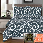 100% Cotton Victoria Ultra Soft Print Duvet Cover Set with 2 Pillow Shams image
