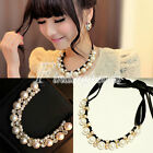 HOT SELL Women's Fashion White Pearl Beads Adjustable Chain Necklace