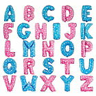16'' Foil Balloon Letters  Alphabet Pink /Blue for Wedding Birthday Party Decor