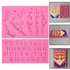 Flower Letter Chocolate Candy Trays Silicone Fondant Mold Mould Cake Baking Tool