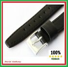 17mm BLACK  Leather Watch Strap, Genuine Calf, VERY POPULAR. Soft Lining L2