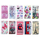 1Pc Luxury Fashion PU Leather Top ID Card Wallet Case Stand Cover For New Phones