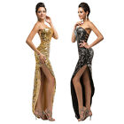 Strapless Shining Sequins Formal Gown Bridesmaids Wedding Cocktail Party Dress
