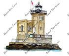 HUNTINGTON HARBOR BAY LIGHTHOUSE LLOYD VINYL AUTO BOAT RV NAUTICAL DECAL STICKER