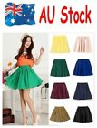 LOCAL AU 0 - 16 Vintage Double High Stretch Waist Short Pleated Pants Mini Skirt