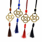 1 Pc Chinese Knot Tassels Pendant Necklace Long Chain Lucky Handmade Home Decor