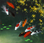 Modern HD Print Animal art oil painting canvas Feng Shui Fish Koi Painting gh387