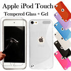 Ultra Thin Gel Case + Tempered Glass Cover For Apple iPod Touch 6th 5th 4th Gen.