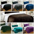 Chezmoi Collection Micromink Sherpa Reversible Throw Blanket  All Size 7 Colors image