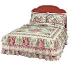 Collections Etc Bella Rose Ruffle Bedspread