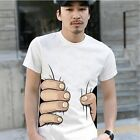 3D New Men Women's Big Hand Printed Funny Catch You Cotton Short Sleeve T-shirt