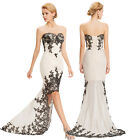 Strapless Formal Evening Gown Wedding Guest Dress Bridesmaid Masquerade Dresses