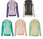 Weatherproof -Ladies Reese V-notch Hoodie, Raglan Hooded Sweatshirt Womens S-2XL