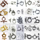 Wholesale Vintage Heart Triangle Flower Round OT Toggle Clasps Jewelry Findings