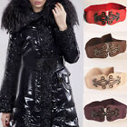 Lady Leather Alloy Buckle Elastic Wide Waist Band Stretch Waist Belt 5 Colors
