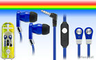 3.5mm Stereo In Ear Earbud Earphone Headset Flat Cord Cable For Cell Phone