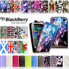 PU LEATHER PLAINED FLIP CASE COVER POUCH FOR BLACKBERRY MOBILE PHONES