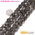"Natural Stone Pyrite Gemstone Jewelry Making Beads 15"" Faceted Beads of Cambay"