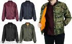 Mens Soul Star MA1 Security Bomber Zip Up Military Army Flight Biker Jacket Coat
