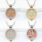 2016 Women DIY Necklace Set with Full Crystal Disc Coin & Pendant Frame Holder